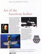 #719 37c American Indian Art MS10 #3873 USPS Commemorative Stamp Panel