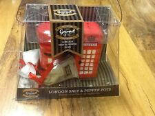 Gourmet Gift Set London Red Telephone And Post Box Salt And Pepper Pots, New