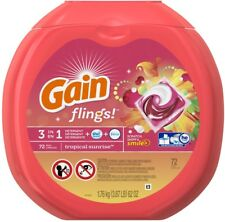 Gain Flings 72-Count Tropical Sunrise High-Efficiency Laundry Detergent
