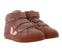 VEJA Echtleder-Sneaker weiche Kinder Schuhe High-Top Fellfutter Turn-Schuhe Rosa