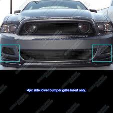 Fits 2013-2014 Ford Mustang GT Black Fog Light Billet Grille Insert