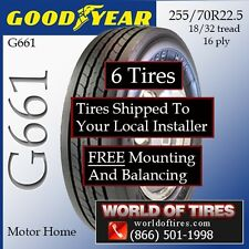 RV Tires 255/70R22.5 Goodyear Includes Shipping & Installation