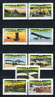Switzerland Stamps 1913 Over Years 9 Value Airplane Set