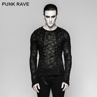 Punk Rave New Design Rock Black Mens Gothic Steampunk Motocycle T-shirt Top