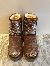 Ugg Australia Classic Short Sequins Boots Size UK 5.5