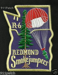 REDMOND Smokejumpers Region 6 (Washington/Oregon) Fire Dept. FIREFIGHTER Patch