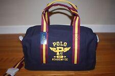 Nwt Polo Ralph Lauren Boys Navy Blue Screen-Printed Gym Duffle Travel Bag