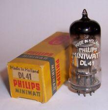 1 NEW IN BOX PHILIPS MINIWATT DL41 BATTERY RADIO OUTPUT VALVE / TUBE - HOLLAND