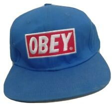 OBEY - BLUE - ONE SIZE ADJUSTABLE SNAPBACK BALL CAP HAT
