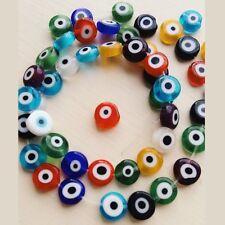 Evil Eye Beads, Lampwork Beads, Mixed Colour, Turkish Eye Beads, 6, 8, 10,12mm