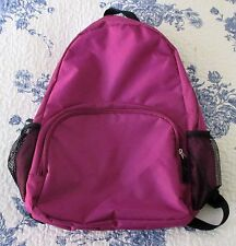 POLYESTER PURPLE TRAVEL, SHOULDER BAG, SCHOOL BACKPACK.  PREOWNED (FLO)