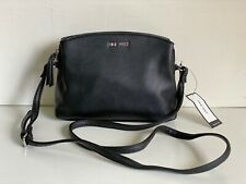 NEW! NINE WEST ANGELINE BLACK TRIPLE ENTRY CROSSBODY SLING BAG PURSE SALE