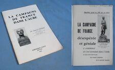 La Campagne de FRANCE dans l'AUBE (1814) / Paton éditeur 1972