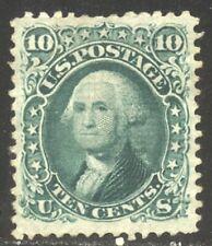 """U.S. #89 SCARCE Unused - 10c Green w/ """"E"""" Grill ($2,000)"""