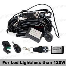LED Car Driving Fog Work Light Wiring Harness Kit 2 Lead Strobe Remote control