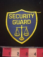 Vtg Police / Security Type Patch - SECURITY GUARD / Scales Of Justice 77CC