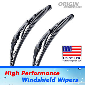 "Front Windshield Wiper Blades for Lincoln Mark III Versailles OEM  16"" + 16"""
