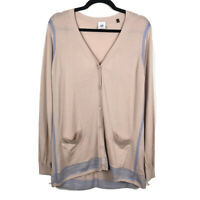 Cabi Womens Lucy Cardigan Sweater #5288 Buff Long Sleeve Button Up Size Medium