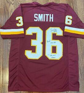 Timmy Smith Signed Jersey w Record 204 Yards & SB XXII Champ - Redskins Legend