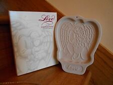 Longaberger Love Angel Cookie Mold almond recipe Christmas 1995 *free shipping!*