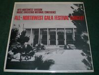 1973 All Northwest Gala Festival Concert~High School Band Choir Orchestra~2 LPs