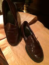 Bass Cordovan Leather Boys Shoes Size 2.5 2 1/2  Medium Dress Loafers