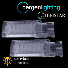 FOR SKODA SUPERB 2008 On 18 LED FOOTWELL LIGHT LAMP PAIR
