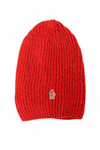 Moncler Unisex Red 100% Wool Knitted Beanie Hat