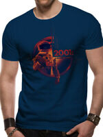 2001: A Space Odyssey Human Error HAL 9000 Movie Poster Blue Men Tshirt