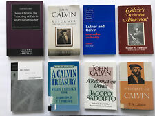 JOHN CALVIN 8 BOOK LOT CALVINISM ATONEMENT REFORMATION SECULAR AUTHORITY