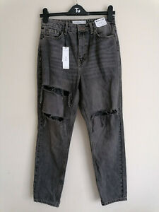 NEW Topshop Mom Ripped Ankle Jeans W27 L26.5
