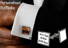 4 pairs of cufflinks - personalised with any photo, logo or text. great gift!!