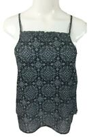 Universal Thread Women's Ruffle Trim Square  Neck Tank Top Blouse NWT -Pick Size