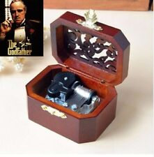 WOODEN OCTAGON CARVING MUSIC BOX ♫  The Godfather Theme ♫