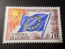 FRANCE, 1963-71, timbre SERVICE 35, CONSEIL EUROPE, DRAPEAU, neuf**, MNH FLAG
