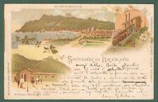 Lombardia. BRUNATE, Como. Souvenir de Brunate. Cartolina viaggiata nel 1899