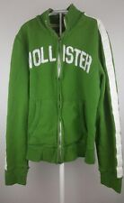 Hollister Mens Full Zip Distressed Sweatshirt Size L Green