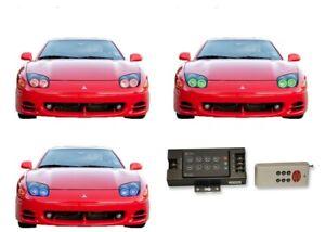 for Mitsubishi 3000GT 94-98 RGB Multi Color RF LED Halo kit for Headlights