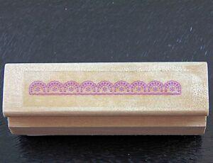 Small Mini Semi-circle Mandala Lace Border Rubber Stamp