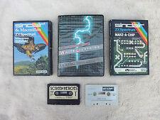 8 Vintage Sinclair Spectrum 48K cinta de programas de juegos de computadora buenas condiciones usado