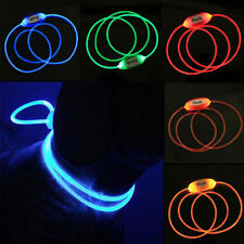 LED Light Up Dog Pet Night Safety Bright Luminous Adjustable Collar Leash Produc