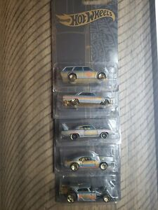 Hot Wheels 51st Anniversary Gold 5 cars  Firebird Superbird Chevy Datsun Rat NEW