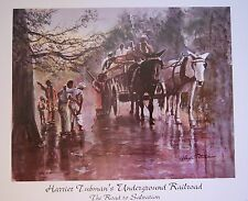 MOVING SALE!  LOT 8  BLACK  AA TUBMAN UNDERGROUND RAILROAD SALVATION 16X20 WOW!