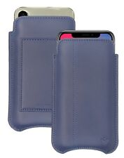 Apple iPhone X Blue Case Real Leather NueVue Screen Cleaning iPhone X Wallet