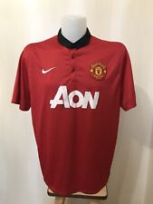 Manchester United 2013/2014 Home 2XL Nike shirt jersey football soccer maillot