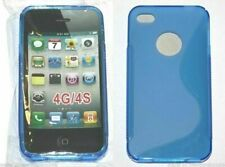 Cell Phone Apple Iphone 4G 4S Plastic Protector Cover Case Dark Ocean Blue Waves