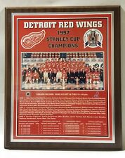 Detroit Red Wings 1997 Stanley Cup Champions Plaque by Healy Awards