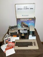 VINTAGE COMMODORE 64 COMPUTER W/ MSO SUPER DISK DRIVE & 1541 SINGLE FLOPPY DISK