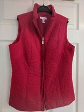Sale Charter Club Red padded/Bodywarmer Gilet Size Medium