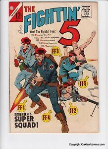 Fightin 5 28 Charlton Comic Book 1964 Mid Grade